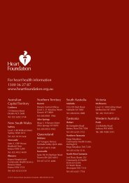 For heart health information 1300 36 27 87 - National Heart ...