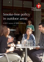 Smoke-free policy in outdoor areas - National Heart Foundation