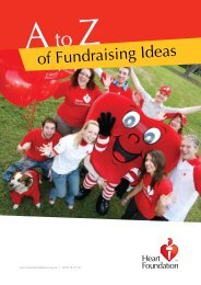 of Fundraising Ideas - National Heart Foundation