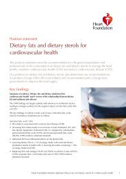 Position statement Dietary fats and dietary sterols - National Heart ...