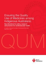 Ensuring the Quality Use of Medicines among Indigenous Australians