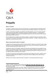 Polypills - National Heart Foundation