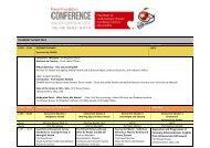 Conference 2013 Program - National Heart Foundation