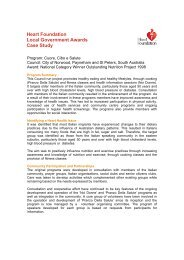 Heart Foundation Local Government Awards Case Study