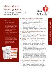 Heart attack warning signs - National Heart Foundation