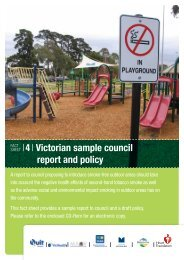 4 Victorian sample council report and policy - Quit Victoria