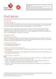 Fruit Juices - National Heart Foundation