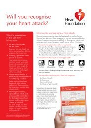 Will you recognise your heart attack? - National Heart Foundation