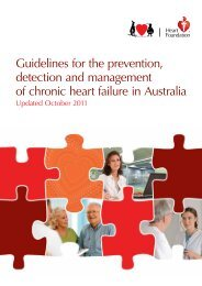 Guidelines for the prevention, detection and management of chronic ...