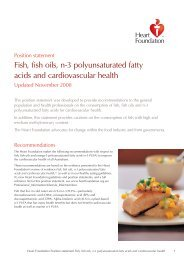 Position statement Fish, fish oils, n-3 polyunsaturated fatty acids
