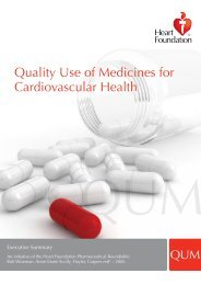 Quality Use of Medicines for Cardiovascular Health - National Heart ...