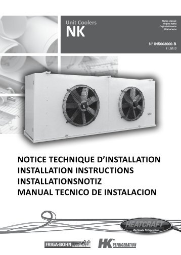 notice technique d'installation installation instructions ... - Europe
