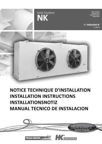 notice technique d'installation installation instructions ... - Europe