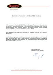 Declaration of conformity to RoHS and WEEE directives ... - Europe