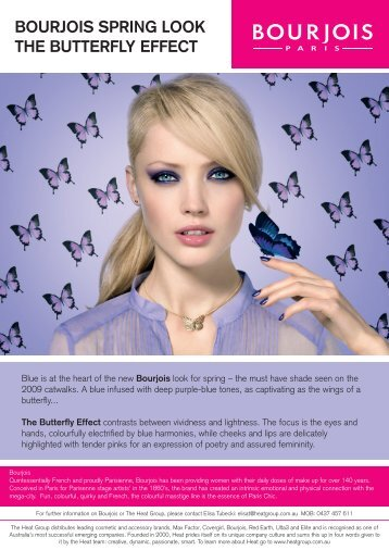 BOURJOIS SPRING LOOK THE BUTTERFLY EFFECT - Heat Group