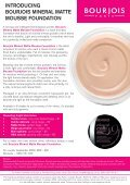 IntroducIng BourjoIs MIneral Matte Mousse FoundatIon - Heat Group - Page 2