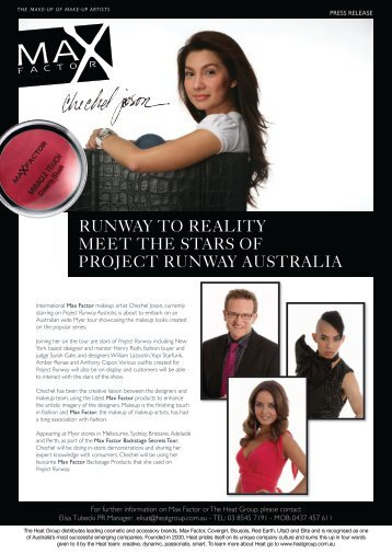 RUNWAY TO REALITY MEET THE STARS OF ... - Heat Group