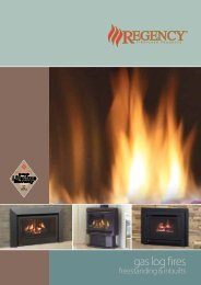 gas log fires - Regency Fireplace Products
