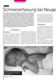 Schmerzerfassung bei Neugeborenen