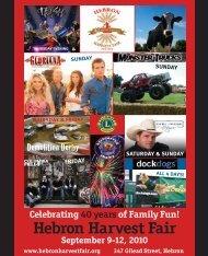 Celebrating 40 Years Of Family Fun! - Hebron Harvest Fair