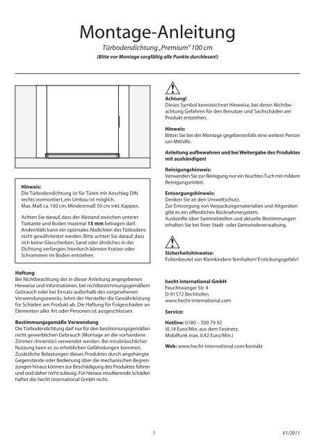 t rbodendichtung premium hecht international gmbh. Black Bedroom Furniture Sets. Home Design Ideas