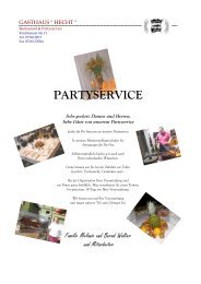 PARTYSERVICE - Hecht