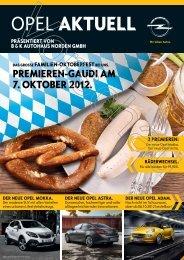 OPEL AKTUELL - B&K Autohaus Norden Gmbh