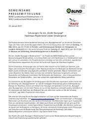 GEMEINSAME PRESSEMITTEILUNG - BUND LV Niedersachsen e.v.