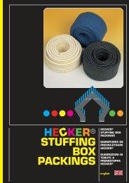 HE KER® STUFFING BOX PACKINGS C - HECKER WERKE GmbH