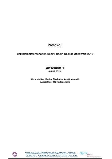 Protokoll Bezirk 2013 - TG Heddesheim