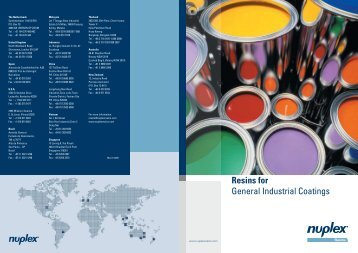 Resins for General Industrial Coatings - Hedinger