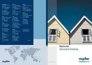 Resins for Decorative Coatings - Hedinger