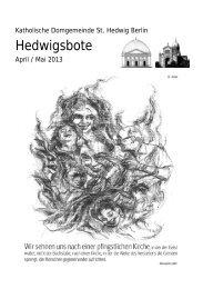 April/Mai 2013 - St. Hedwigs-Kathedrale Berlin