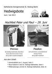 Juni/Juli 2013 - St. Hedwigs-Kathedrale Berlin