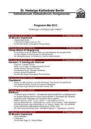 Monatsprogramm Mai 2012 - St. Hedwigs-Kathedrale Berlin