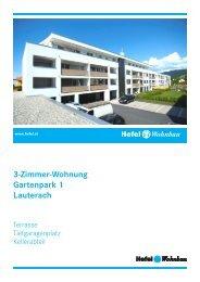 3-Zimmer-Wohnung Gartenpark 1 Lauterach - Hefel Wohnbau AG