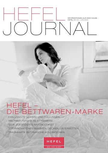 HEFEL – DIE BETTWAREN-MARKE - Hefel Textil AG