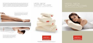 HEFEL NECK SUPPORT PILLOWS - Hefel Textil AG