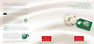Download Folder Organic Cotton - Hefel Textil AG