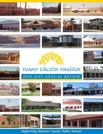 2009-2010 AnnuAl Review - hef hanover education foundation