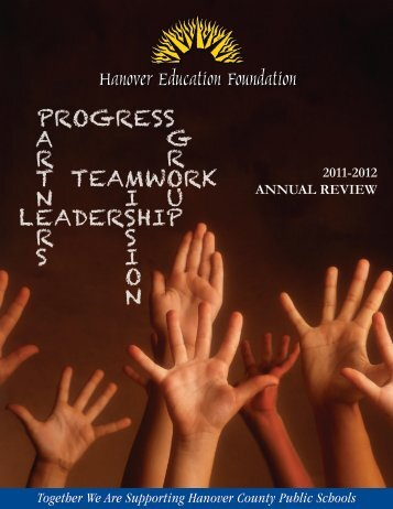 Together We Are Supporting Hanover County Public Schools 2011 ...
