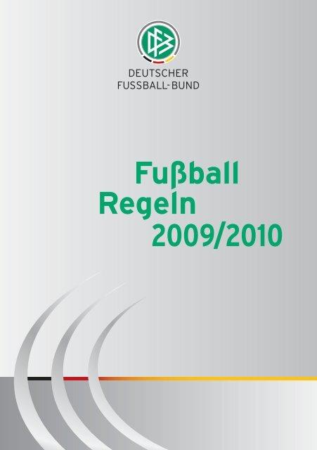 Fussball Regeln 2009 2010 Dfb
