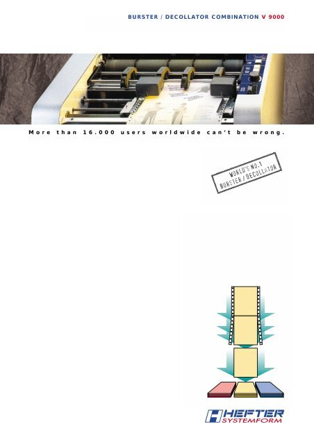Brochure V 9000 (PDF) - HEFTER Systemform
