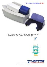 Dépliant OL 220 (PDF) - HEFTER Systemform