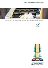 Prospekt V 9000 (PDF) - HEFTER Systemform