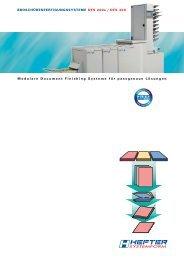 Modulare Document Finishing Systeme für passgenaue Lösungen ...