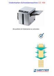Visitenkarten-Schneidemaschine CC 100 - STAMAGRAF