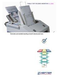 Brochure SI 2200 - HEFTER Systemform