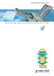 Prospekt TF MAXI (PDF) - HEFTER Systemform