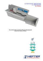 Prospekt OL 700 plus - HEFTER Systemform